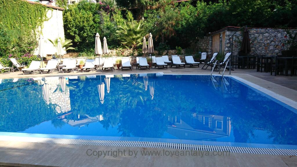 True blue boutique hotel kalkan pool