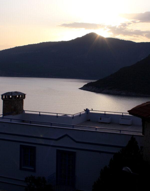 True Blue boutique hotel kalkan view sunset
